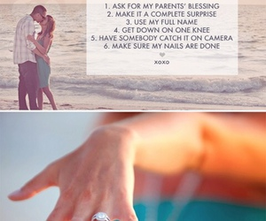 wedding, proposal, and rules image