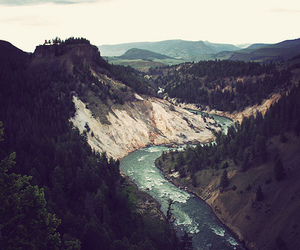 river, mountains, and nature image