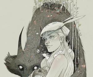 art, fox, and draw image
