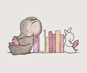 books, cute, and reading image