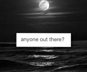 alone, b&w, and beach image