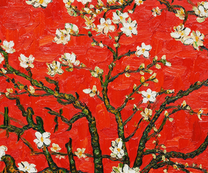 red, vincent van gogh, and art image