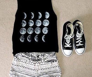 fashion, outfit, and moon image