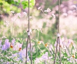 childhood, spring, and tenderness image