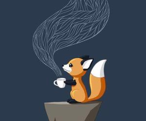 fox, cute, and tea image