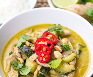 Chicken, curry, and thai image