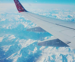 snow, the alps, and blue image
