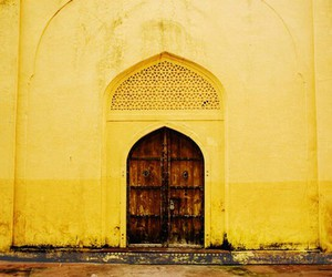 door, india, and yellow image