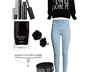 clothes, makeup, and outfit image