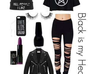 black, outfits, and nu-goth image