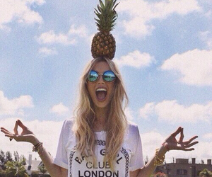 girl, summer, and pineapple image