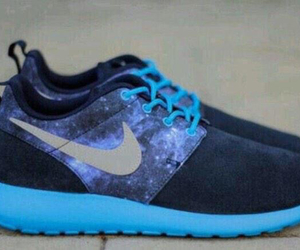 blue, nike, and galaxy image