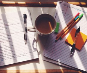 coffee, study, and pen image