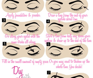 diy, eyeliner, and makeup image