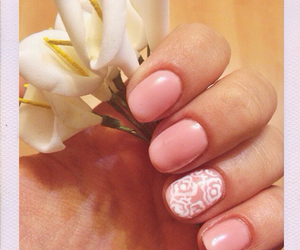 flowers, manicure, and nails image
