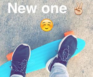 nike, skate, and blue&orange image
