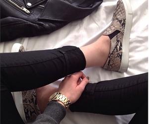 bag, girl, and shoes image