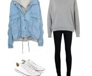 jeans, shoes, and look image