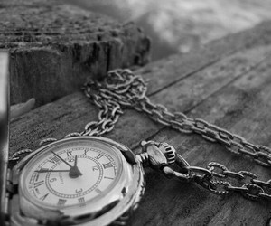 clock, black, and black and white image