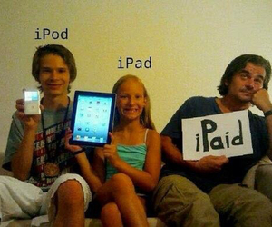 funny, ipod, and ipad image