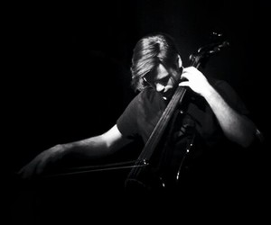 black and white, stjepan hauser, and 2cellos image