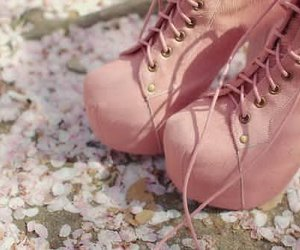 high, pink, and shoes image