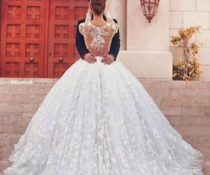 couples, wedding, and wedding dress image