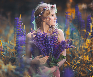 fairy, lavender, and girl image