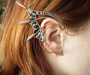 ear, jewelry, and earrings image