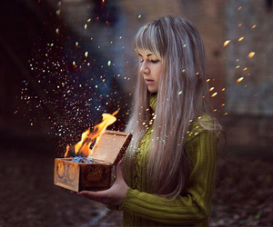 color, fairie, and fire image