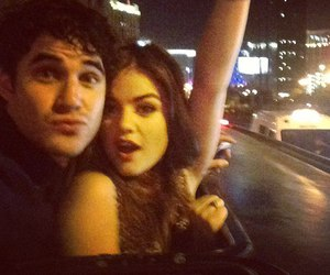 lucy hale, darren criss, and pll image