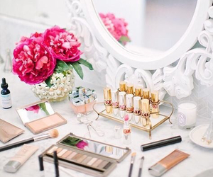 makeup, flowers, and make up image