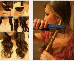 diy, wavy hair, and tutorial hair image