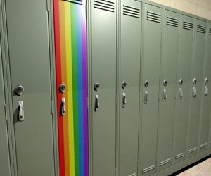 rainbow, gay, and locker image