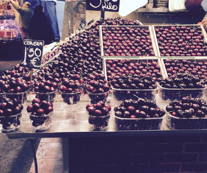 Barcelona, cherries, and spain image