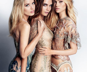 model, cara delevingne, and suki waterhouse image
