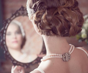 bride, hair, and mirror image