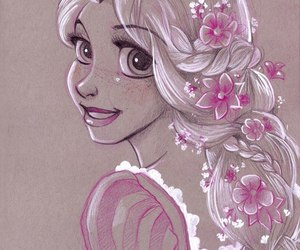 rapunzel, disney, and princess image