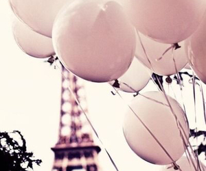 balloons, tour eiffel, and cute image