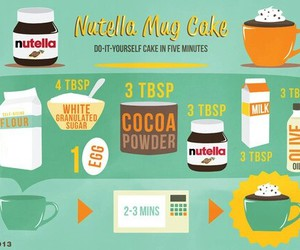 nutella, food, and cake image