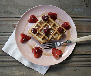waffles, food, and plate image