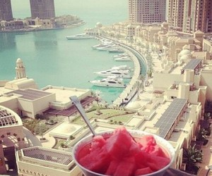 city, summer, and watermelon image