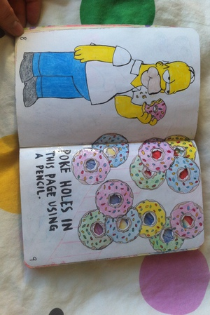 donut, wreck this journal, and WTJ image