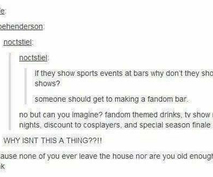 bar, cosplay, and fandom image