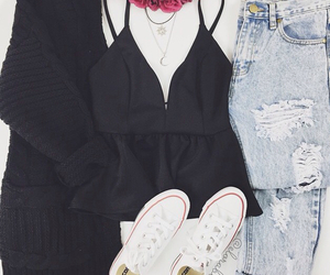 clothing, converse, and cute image