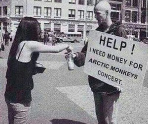 concert, money, and help image