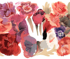 flowers, art, and color image