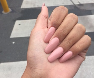 nails, pink, and girls image