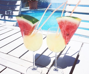 summer, drink, and watermelon image