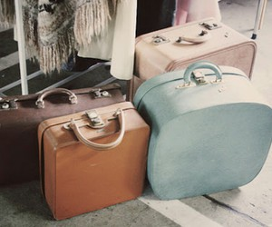 vintage, bag, and suitcase image